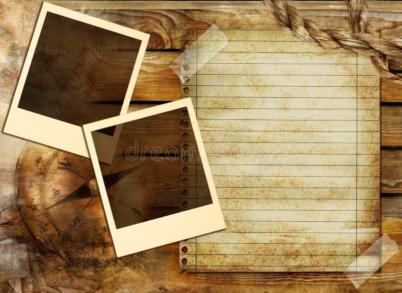 pięcioliniowy tło rocznik ilustracji