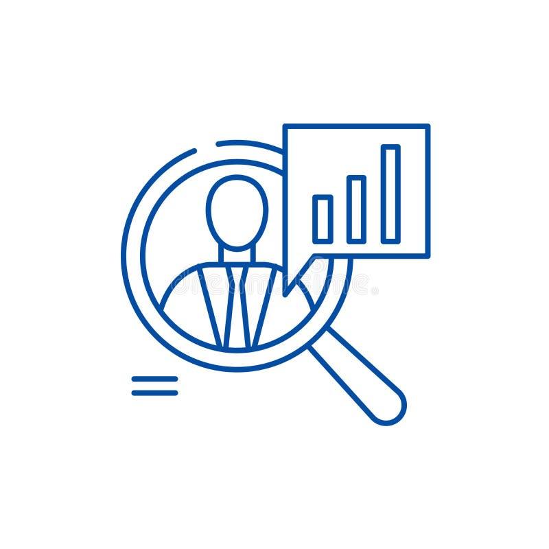 Pięcioliniowy występ linii ikony pojęcie Pięcioliniowego występu płaski wektorowy symbol, znak, kontur ilustracja royalty ilustracja