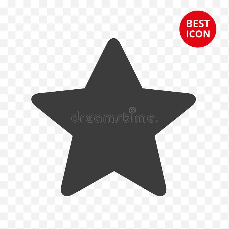 Pięcioramienna czerni gwiazdy ikona Wektoru gwiazdowy symbol Prosty mieszkanie stylu pojęcie Nowożytny odosobniony guzik Dla stro ilustracji