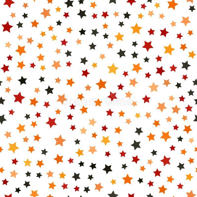 Pięcioramienny gwiazdowy chaotyczny wzór tło bezszwowy wektora royalty ilustracja