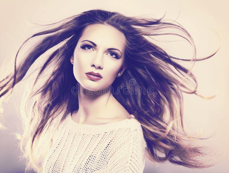 piękną brunetkę fotografia royalty free