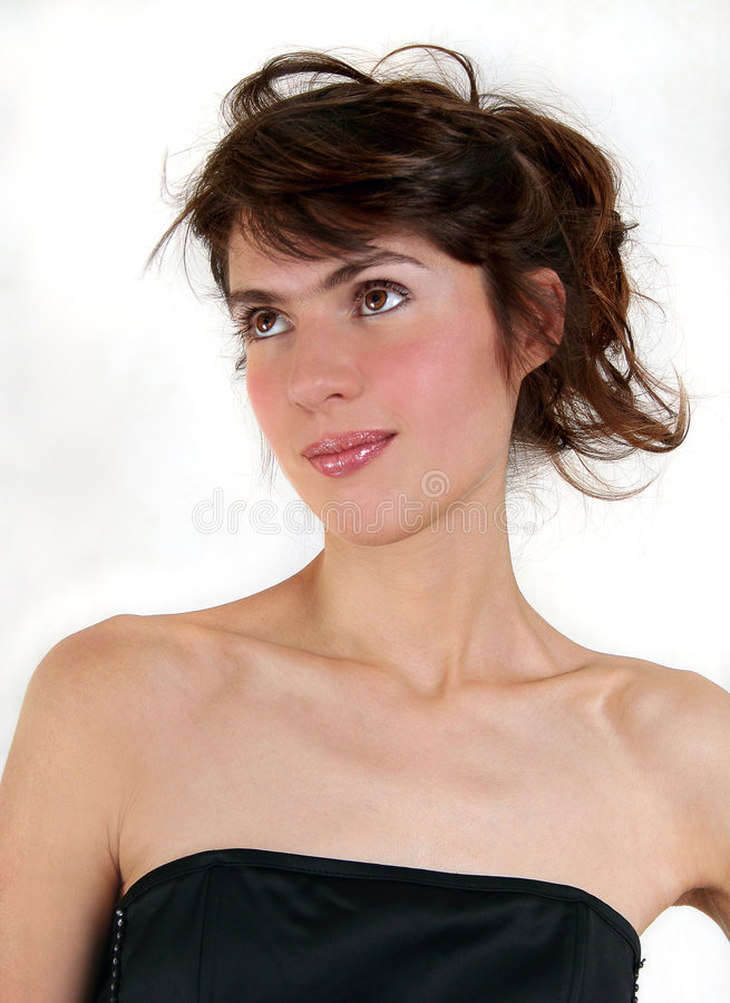 piękną brunetkę seksowni young zdjęcie stock