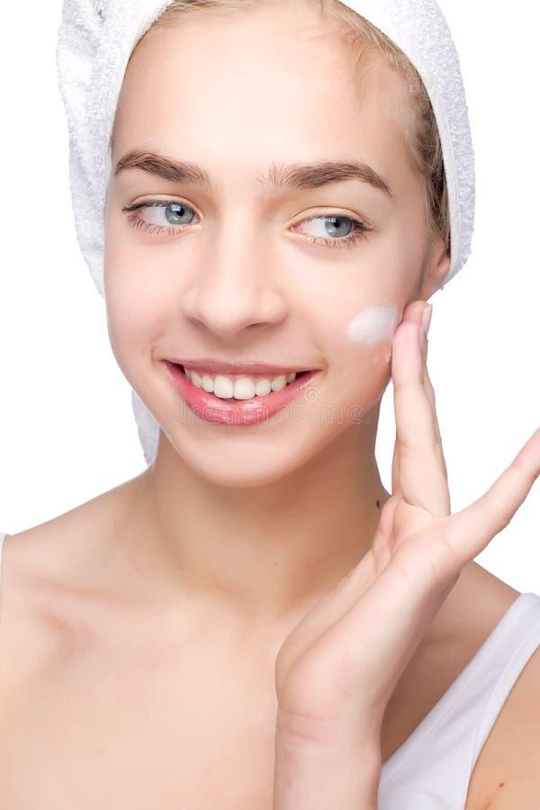 piękną dziewczynę głowa jej ręcznik obrazy royalty free