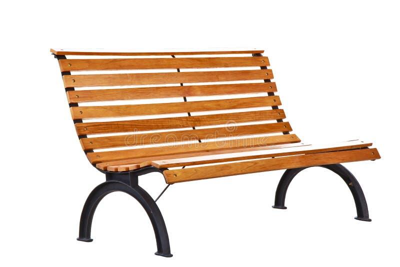 Piękna ławka oddzielnie na białym tle obraz stock
