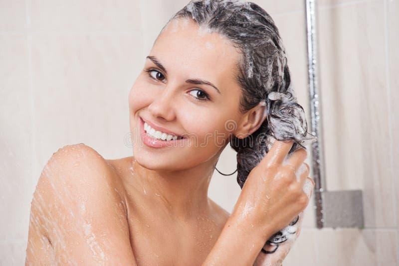 piękna łazienki kobieta obraz royalty free