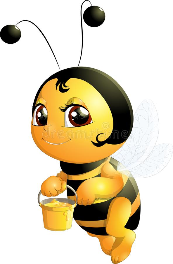 Piękna śliczna pszczoła ilustracji