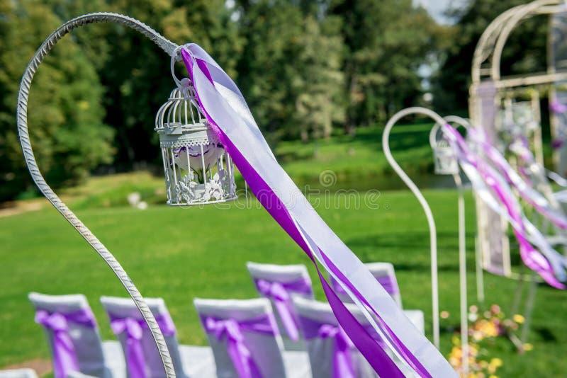 Piękna ślubna dekoracja zdjęcia stock
