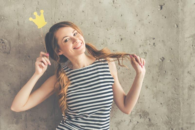 Piękna śmieszna kobieta fotografia royalty free