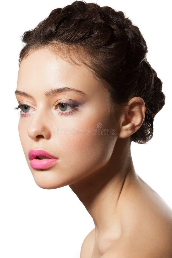 Piękna żeńska twarz zdjęcie stock