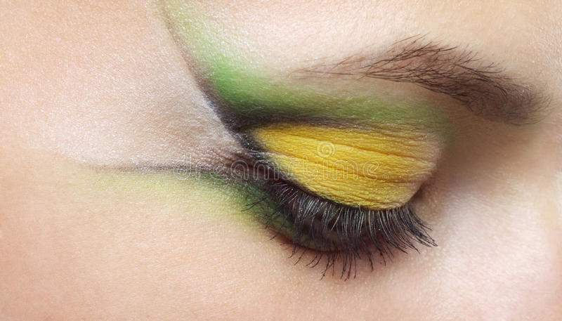 Piękna żeński oka Makeup zdjęcia stock