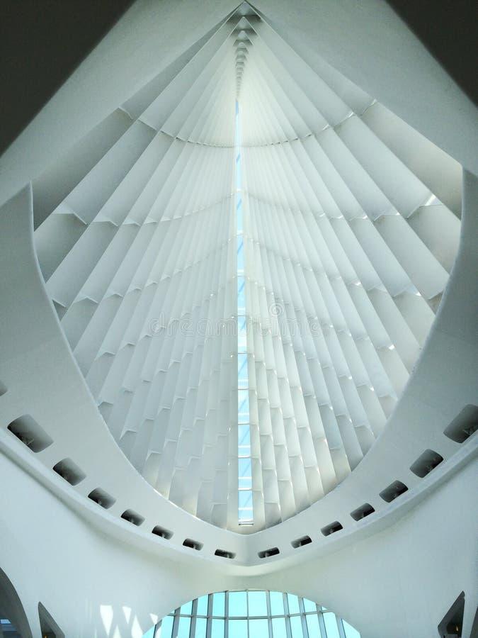 Piękna abstrakcjonistyczna architektura w Milwaukee obrazy stock