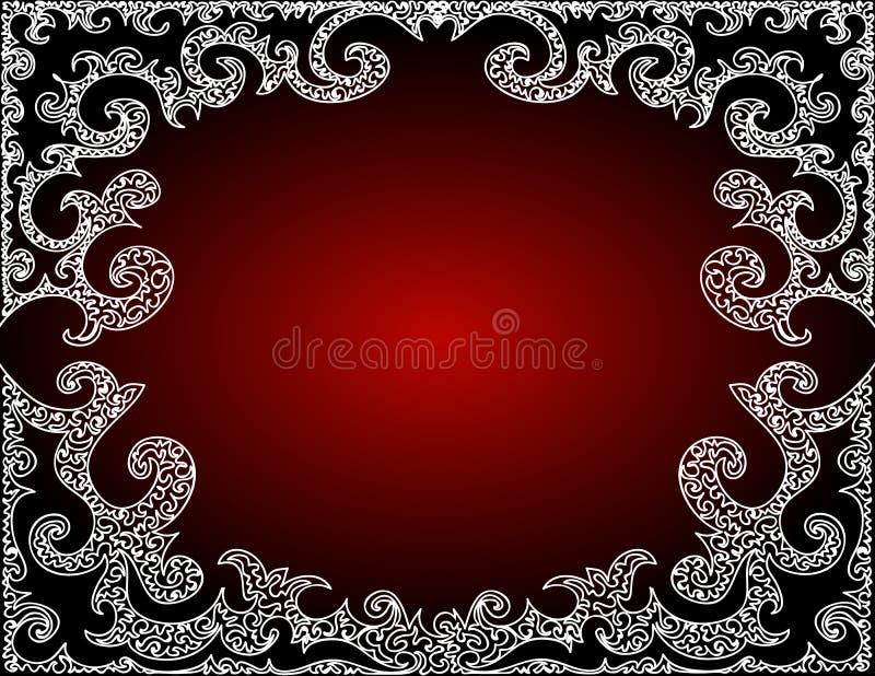 Piękna abstrakcjonistyczna wektorowa czerwieni rama royalty ilustracja