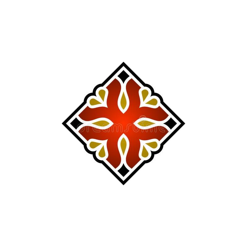 Pi?kna abstrakta kwadrata ornamentu ilustracja royalty ilustracja