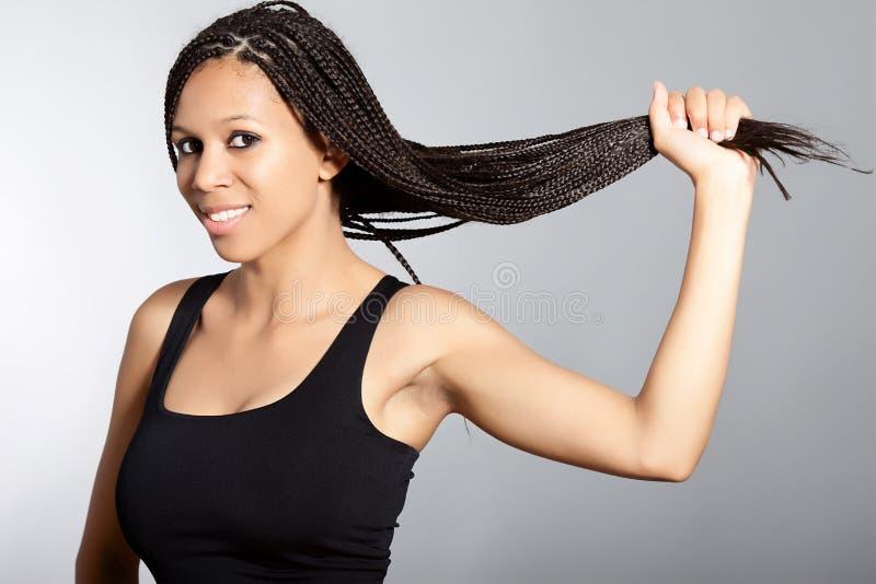 piękna Amerykanin afrykańskiego pochodzenia dziewczyna zdjęcie stock