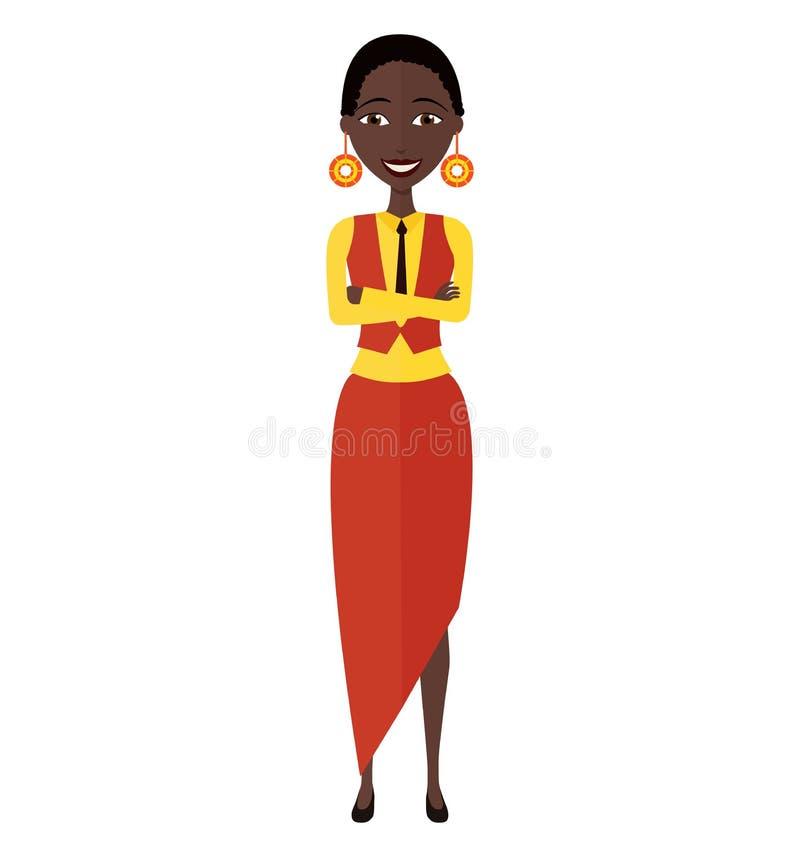 Piękna amerykanin afrykańskiego pochodzenia kobieta z naturalnym kędzierzawego włosy mieszkaniem obraz royalty free