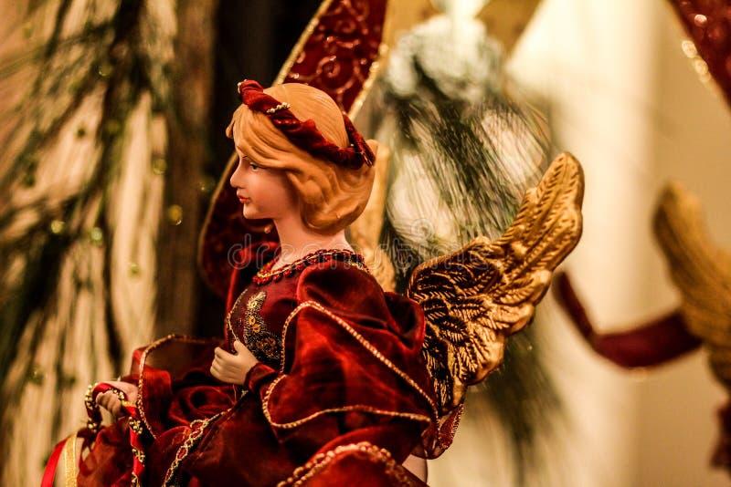 Piękna aniołów bożych narodzeń dekoracja fotografia royalty free