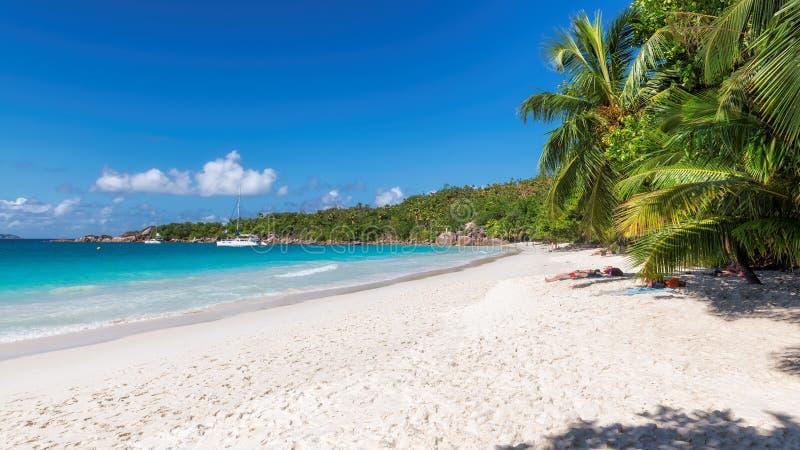 Piękna Anse Lazio plaża przy Praslin wyspą, Seychelles zdjęcie royalty free