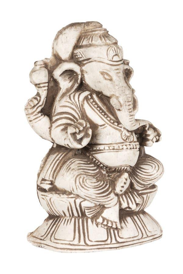 Piękna Antyczna Kamienna figurka Hinduski bóg mądrość i argument za zdjęcie royalty free