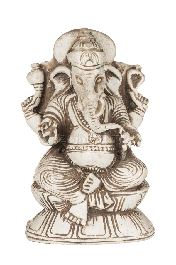 Piękna Antyczna Kamienna figurka Hinduski bóg mądrość i argument za zdjęcia stock