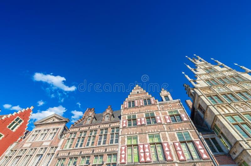 Piękna architektura Gent, Belgia zdjęcia stock