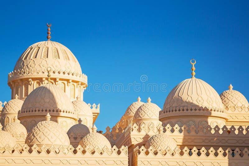 Piękna architektura meczet w Hurghada obrazy royalty free