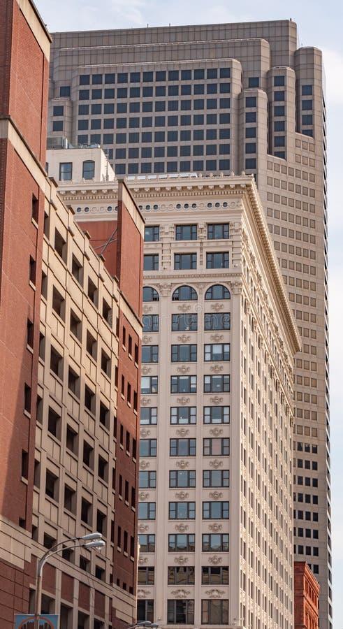 Piękna architektura przy St Louis śródmieściem - saint louis USA - CZERWIEC 19, 2019 obraz stock