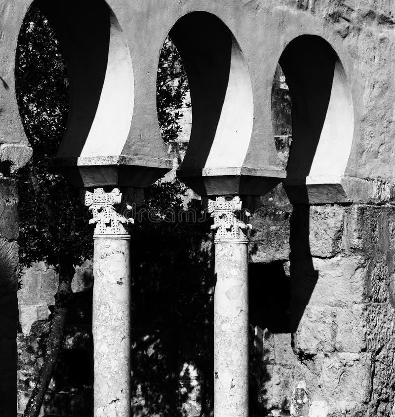 Piękna architektura w Medina Azahara zdjęcia stock