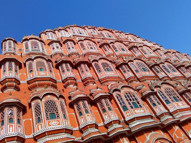 Piękna architektura wiatrowy pałac, Jaipur, Rajasthan, India obraz royalty free
