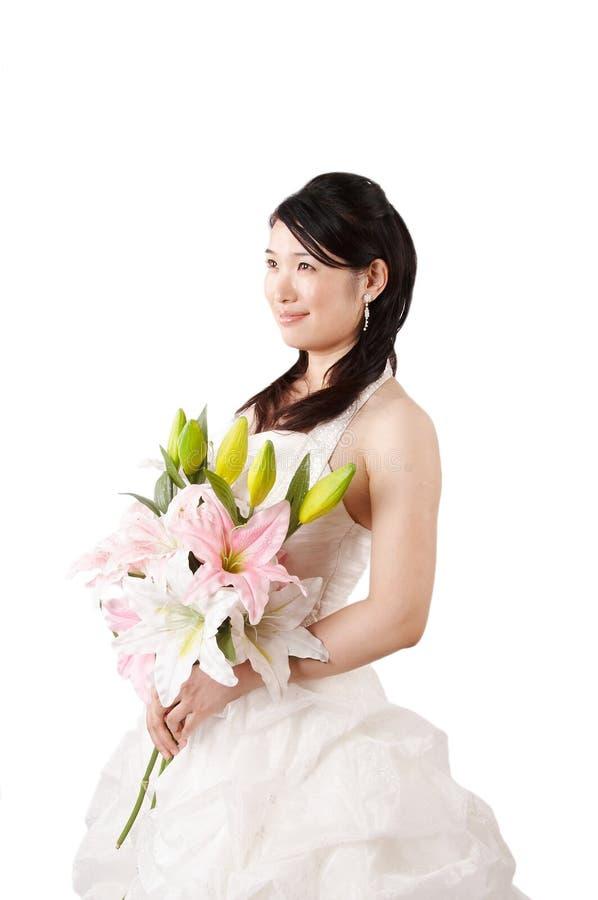 piękna azjatykcia lily gospodarstwa obrazy stock