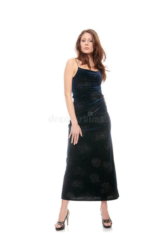 piękna błękit sukni dziewczyna fotografia stock