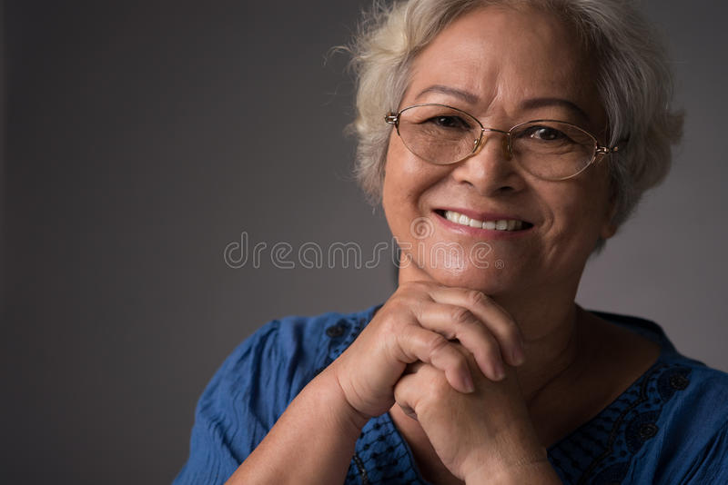 Piękna babcia zdjęcie stock