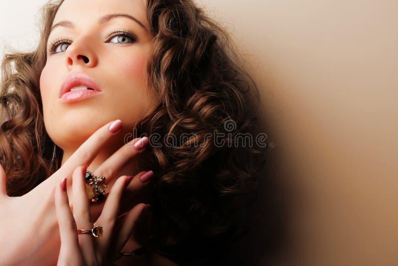 piękna biżuterii kobieta zdjęcie stock