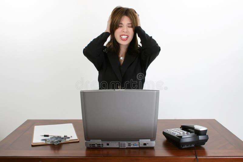 piękna biurka latynosa kobieta zdjęcia royalty free