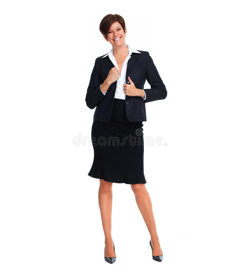 Piękna biznesowa kobieta z krótką fryzurą obrazy royalty free