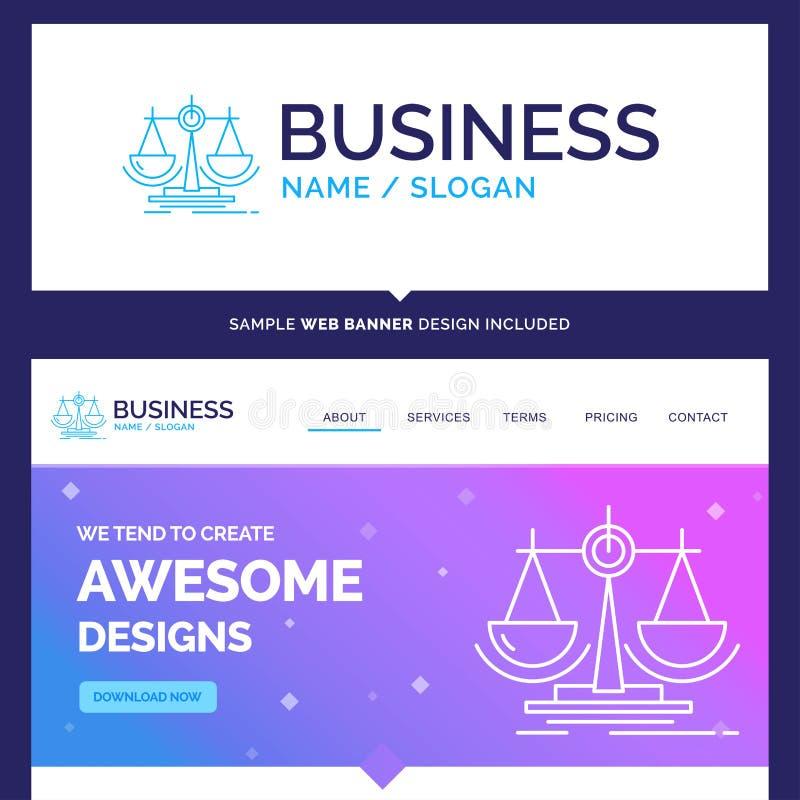 Piękna Biznesowa pojęcie gatunku imienia równowaga, decyzja, sprawiedliwość ilustracja wektor