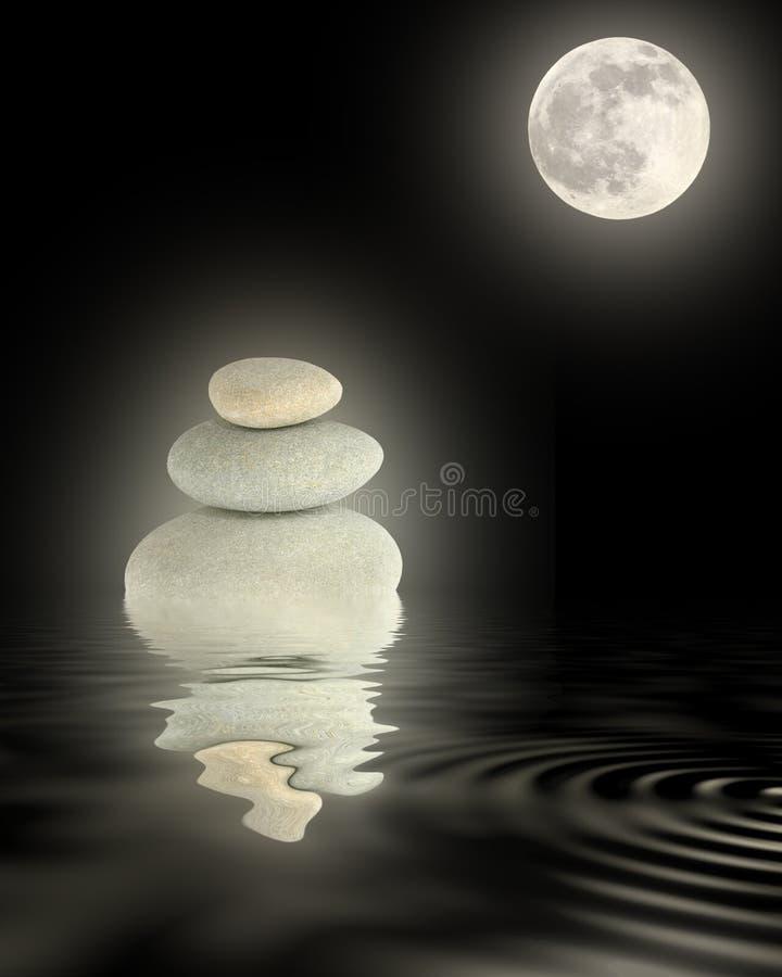 piękna blasku księżyca zen zdjęcia stock