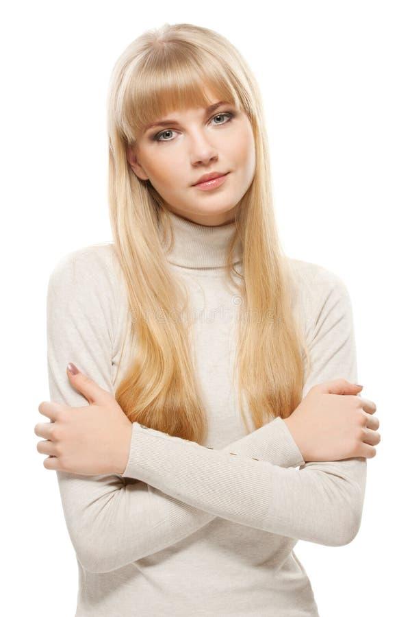 piękna blond dziewczyna fotografia stock