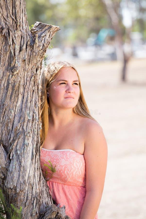 Piękna blond dziewczyna obrazy stock