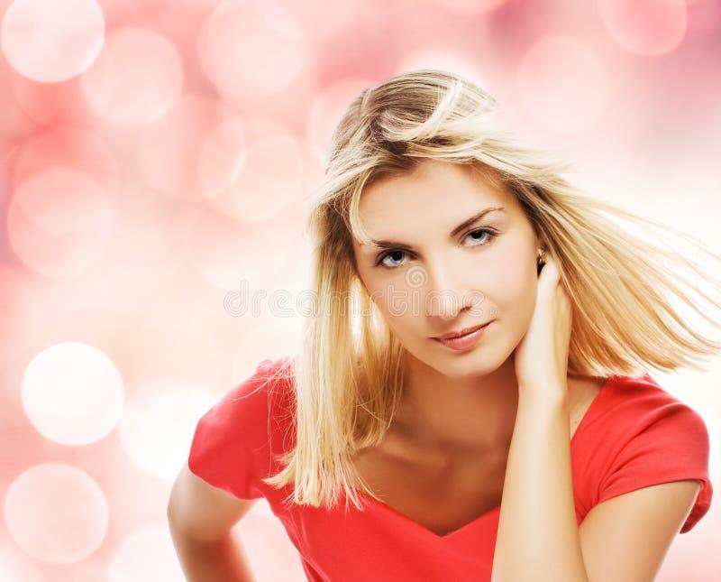 piękna blond kobieta obraz stock