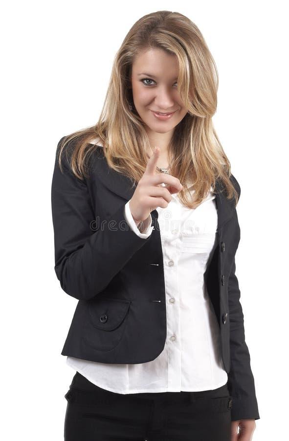 piękna blondynka bizneswoman obraz stock