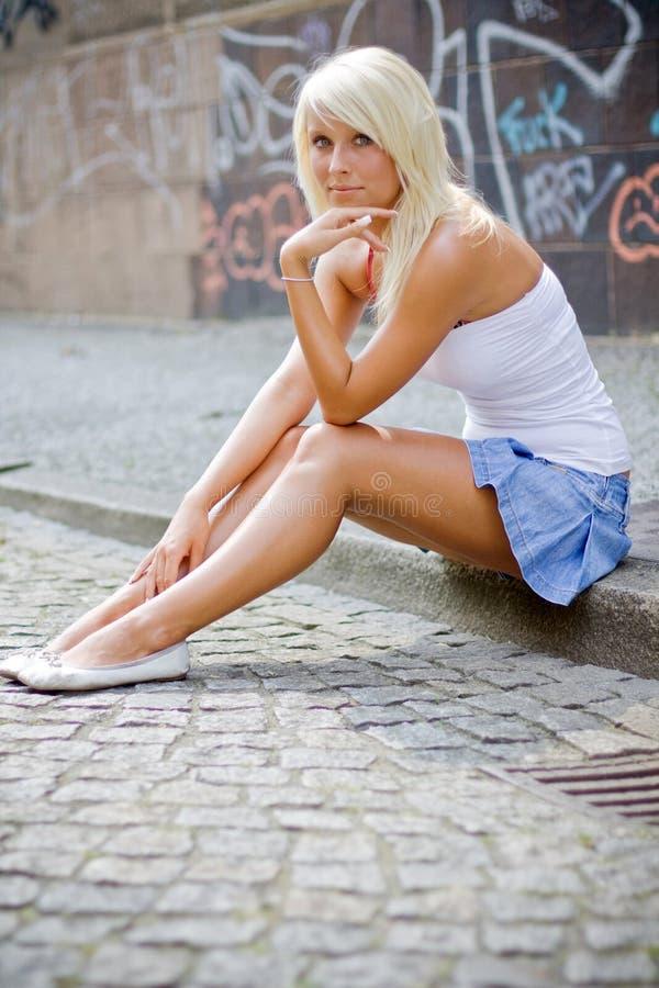 piękna blondynka dziewczyna fotografia royalty free