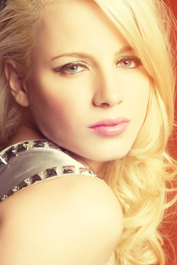 piękna blondynka kobieta zdjęcie stock
