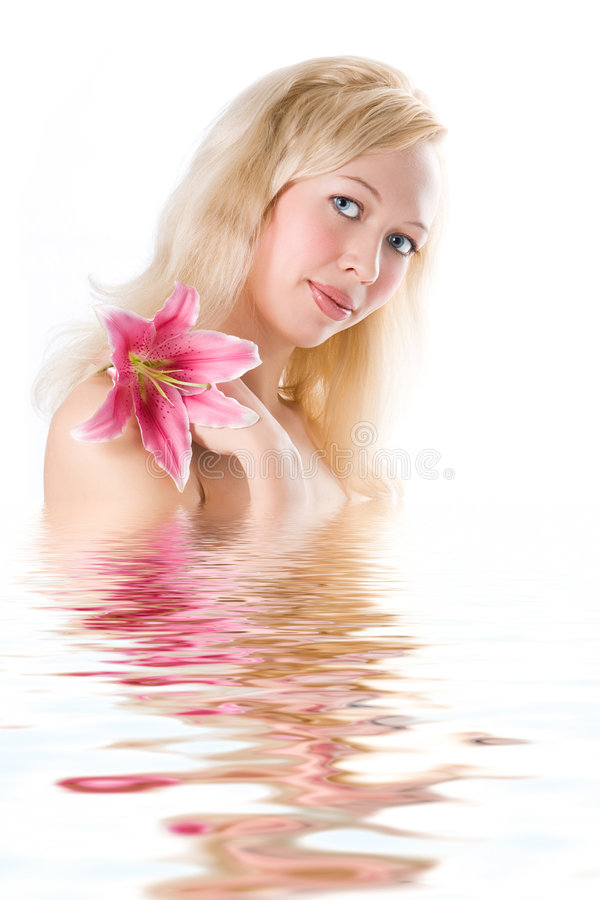 piękna blondynka spa zdjęcia stock