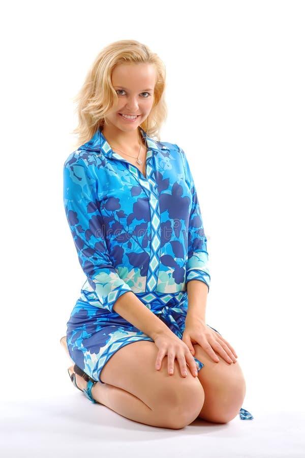 piękna blondynka studio obrazy stock