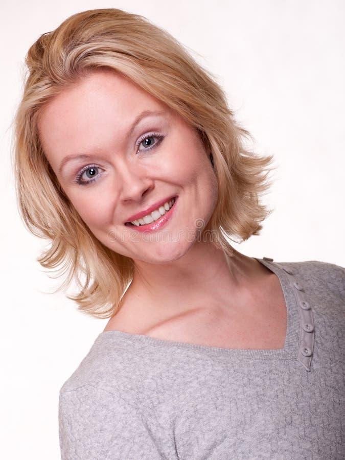 Piękna blondynka trzydzieści caucasian kobieta zdjęcia royalty free