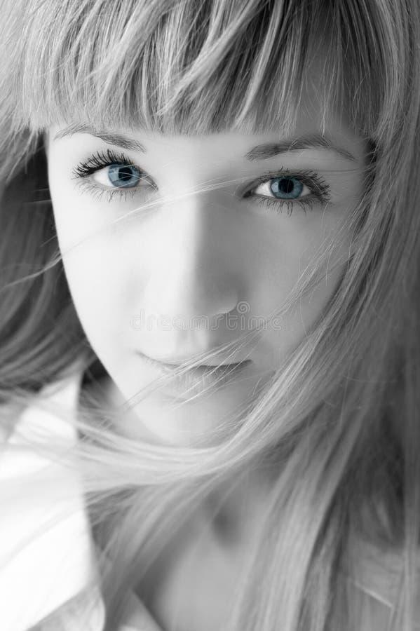 piękna blondynka twarz kobiety zdjęcie stock