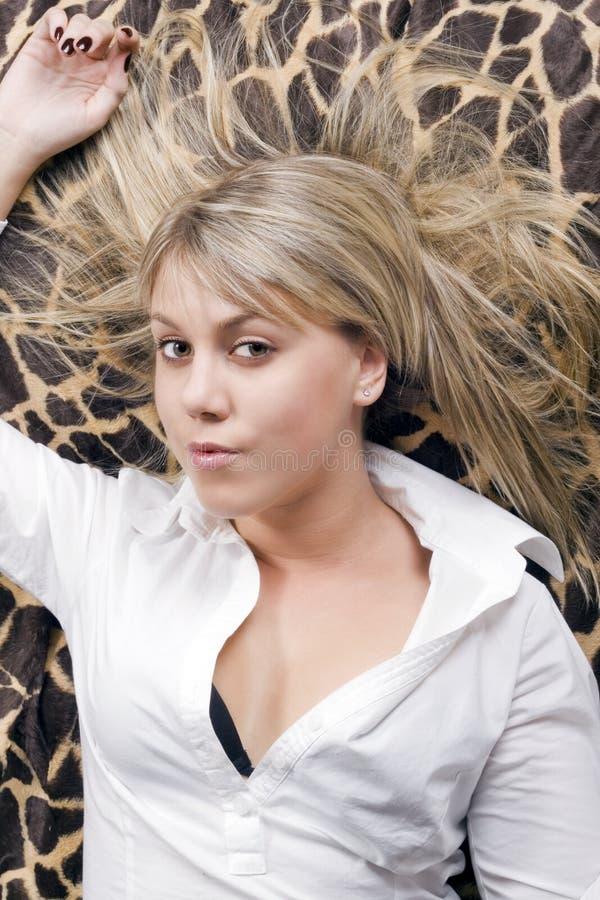 piękna blondynki portreta potomstwa obrazy royalty free