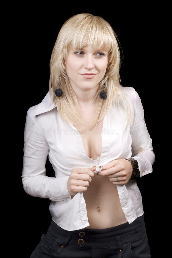 piękna blondynki seksowni potomstwa fotografia stock