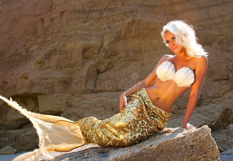 Piękna blondynki syrenka fotografia stock