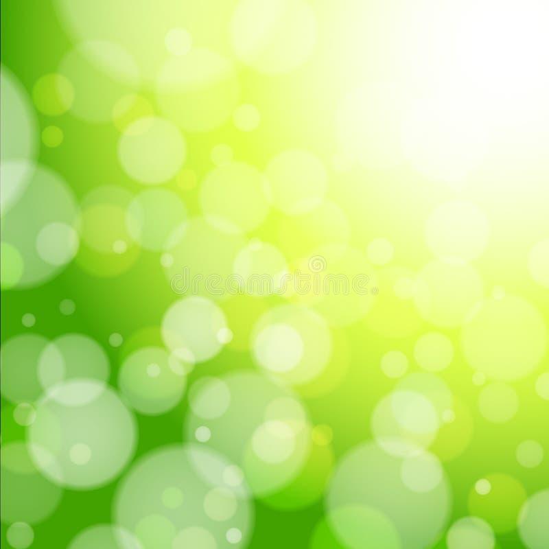 piękna bokeh lasu wiosna ilustracji